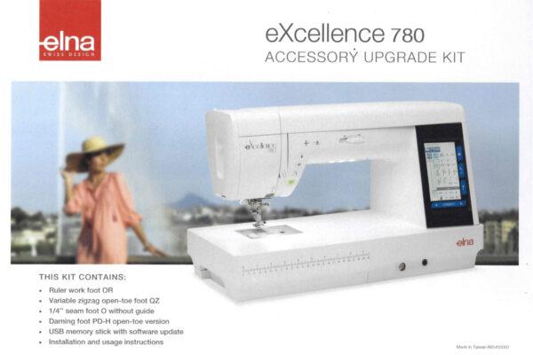 Elna eXcellence 780 Zubehör Upgrade Kit (Nähfüße für Patchwork- und Quilten)