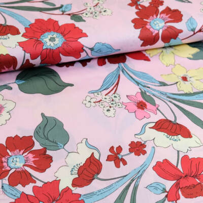 Stoff 82832 Baumwoll Satin Druck In Bloom