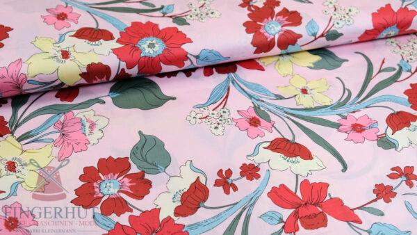 Stoff 82832 Baumwoll Satin Druck In Bloom
