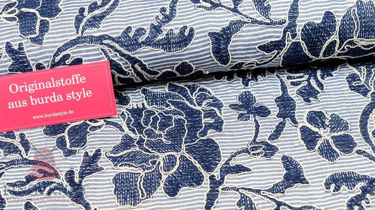 Stoff 82870 Bestickte Baumwollmischung