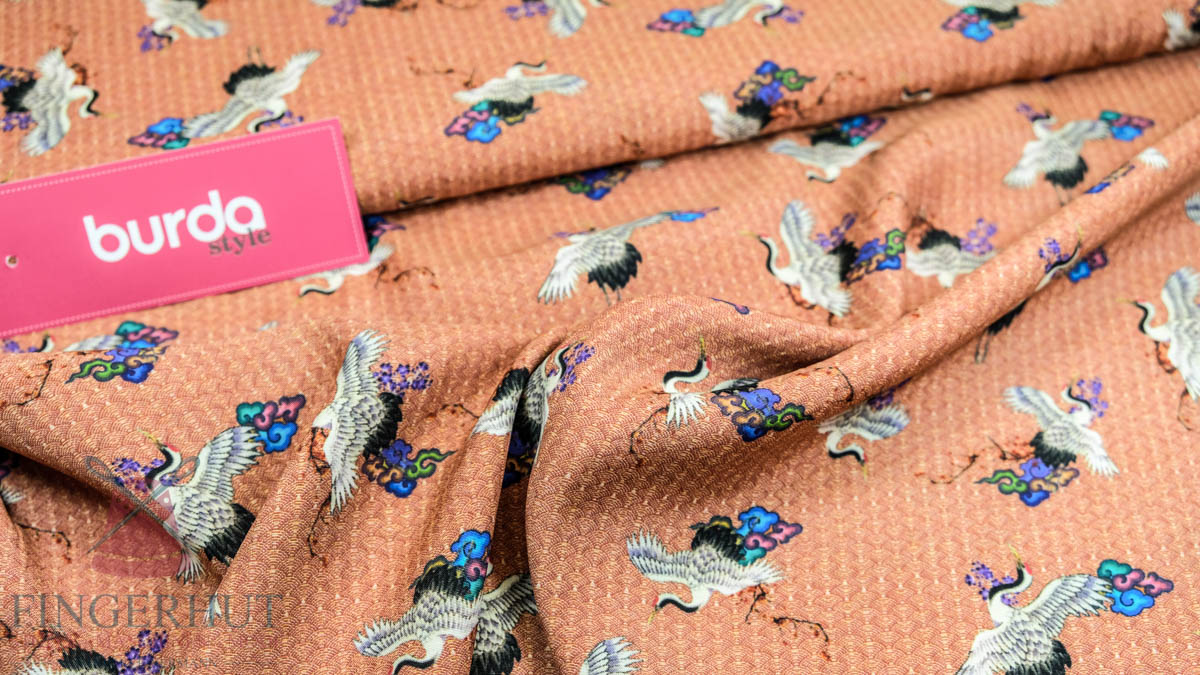 Stoff 83518 Viscose Print Coral/mehrfarbig