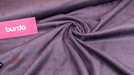 Stoff 83519 Velour Lederimitat Purpur