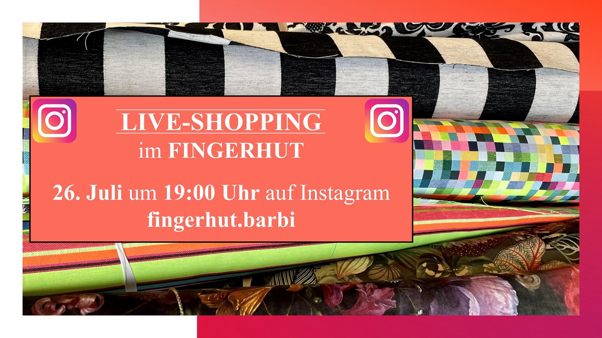 Instagram Live-Shopping im Fingerhut Juli 2021