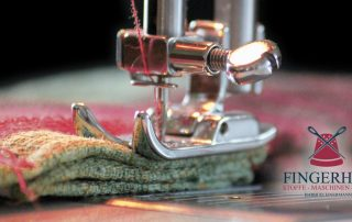 Fingerhut Stoffe und Nähmaschinen Nähmaschine mit Stoff OpenGraph Teaserbild