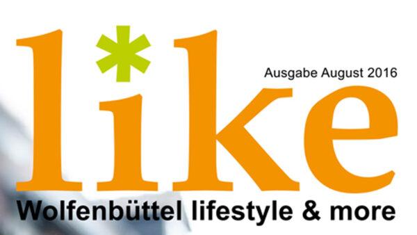 Stadtmagazin like Wolfenbüttel Ausgabe August 2016 Logo