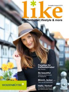 Zeitschrift like Wolfenbuettel Titelbild Ausgabe August 2016